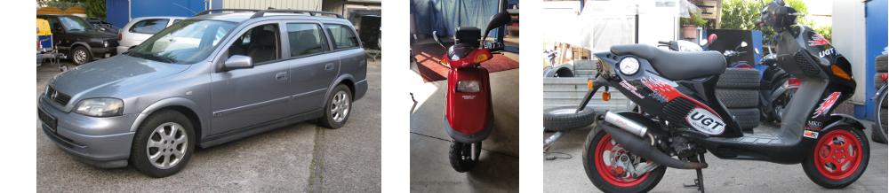 Auto, Motorrad & Roller
